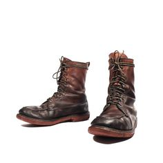 Vintage 1960's Knapp Moc Toe Outdoorsman Boots Lace Up Ankle Hunting Sport Boot for a Men's Size 10 1/2