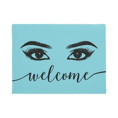 Brows, Lashes, Lash Room, Personalized Door Mats, Beauty Quotes, Floor Mats, Adulting, Diy Beauty, Turquoise