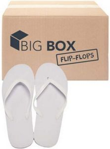 "bf7e51d55 Big Boxâ""¢ Women`s Basic Flip-Flops - White - 1989654 - Brilliant  Promotional Products"