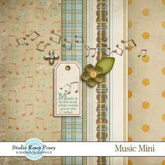 Music tiny kit from Rosey Posey Studio #scrapbook #digiscrap #scrapbooking #digifree #scrap
