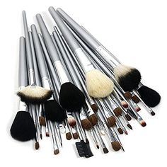 KINGMAS 40 pcs Pro SilverHandle Goat Hair Cosmetic Makeup Brush Set Kit with Synthetic Leather Case >>> Check out this great product. (Note:Amazon affiliate link)