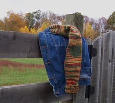 Denim Jacket Plus Size Women Sweater Sleeves Fall Colors Upcycled Blue Jean Coat SOLD  See more here: https://www.etsy.com/shop/GreenbriarCreations?ref=l2-shop-info-name&section_id=10214304