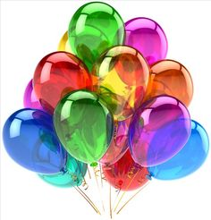Helium Balloons party birthday decoration classic multi colored !
