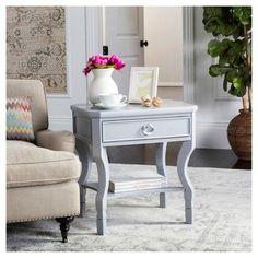 Alaia Side Table - Grey - Safavieh