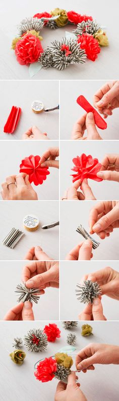 Use this tutorial to make a tissue paper flower crown.