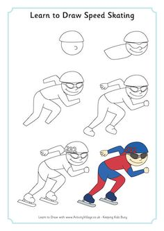 Biathlon combines crosscountry skiing and rifle shooting and is a Winter Olympic sport. On this sheet you can learn to draw a man ready for the rifle shooting.