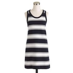 """HOLIDAY SALE J. Crew Rugby Stripe Tank Dress There's nothing more effortless than a tank dress. In comfy cotton terry with classic rugby stripes, it's the one to toss over a swim suit or under a denim jacket. 31"""" length. Excellent condition! J. Crew Dresses Mini"""