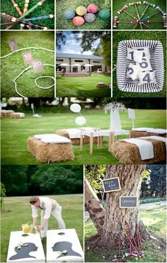 Hay bale seating areas, Games