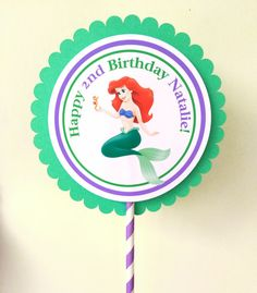 The Little Mermaid Centerpiece by BerrySweetParties on Etsy, $10.00