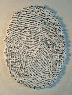 Clandestino by antonella zorzi mosaics 2003 Marble 32 x 25 cm.