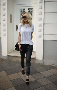 Black and white - casual chic look