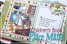(DIY homemade gift idea) Make place mats out of children's book pages