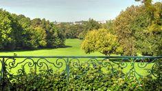 Parc du château de Morsang-sur-Orge - Panorama sur le parc depuis le balcon