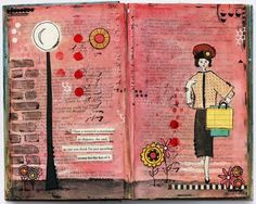 Recycle vintage books into mixed media art journals