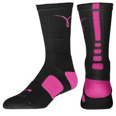 Nike Elite Basketball Crew Socks - Men's - Black/Pinkfire