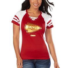 Women's Kansas City Chiefs Majestic Red Draft Me VII T-Shirt