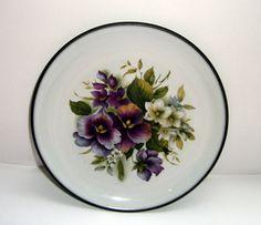 Vintage 1970s Hornsea Lancaster Vitramic Contrast Floral by mish73, $6.75