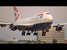 British Airways B747 Smooth Landing
