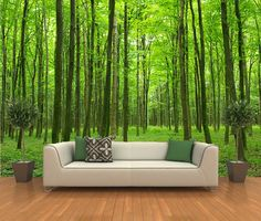 Peel and stick photo wall mural, decor wallpapers forest Art - 504 ...