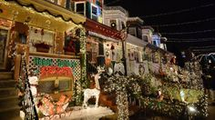 A view of the Christmas lights on the 700 block of 34th Street in the Hampden community of Baltimore, Maryland on December 12, 2014. The display called 'Miracle on 34th Street' dates back to 1947 and attracts thousands of tourists each year. (MLADEN ANTONOV/AFP/Getty Images) | 30 Most Christmassy Places in the World (PHOTOS) | The Weather Channel