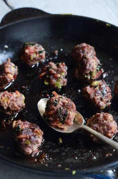 Beef, Bacon and Kale Meatballs | Fresh Tart (AIP, Paleo)