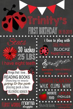 Lady Bug Milestone Posters- Please click on the poster twice to follow me on FB & to place orders