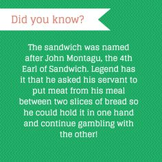 The man behind the sandwich… The Man, Bond, Sandwiches, Facts, Cleaning, Cooking, Amazing, Kitchen, Home Cleaning