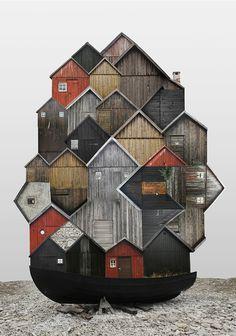 El espíritu de las ciudades capturado en collages,SE / Fårö. Imagen cortesía de Anastasia Savinova