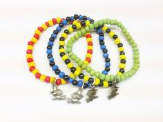 Harry Potter jewelry - House pride elastic bracelets (Gryffindor, Slytherin, Ravenclaw, Hufflepuff) on Etsy, £0.99