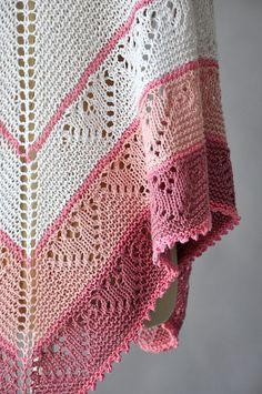 Ravelry: Be Mine Shawl pattern by Rachel Brockman