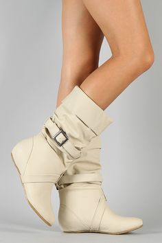 Diva Lounge Candies-08 Buckle Slouchy Riding Boot $32.50