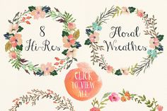Watercolor flower DIY pack Vol.3 by Graphic Box on @creativemarket