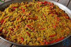 Paella de verdura (Paella de légumes)