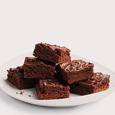 These sweet, chewy brownies get their rich flavor from both cocoa and dark chocolate, but they're lower in fat than traditional brownies because the recipe calls for a low-fat milk, fewer eggs, and a reduced amont of sugar and butter.