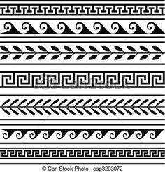 Border Pattern, Border Design, Pattern Art, Art Patterns, Pattern Design, Pottery Patterns, Pattern Images, Pattern Ideas, Vector Pattern