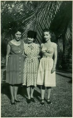Three Women in Miami, Florida 1948, via Flickr.