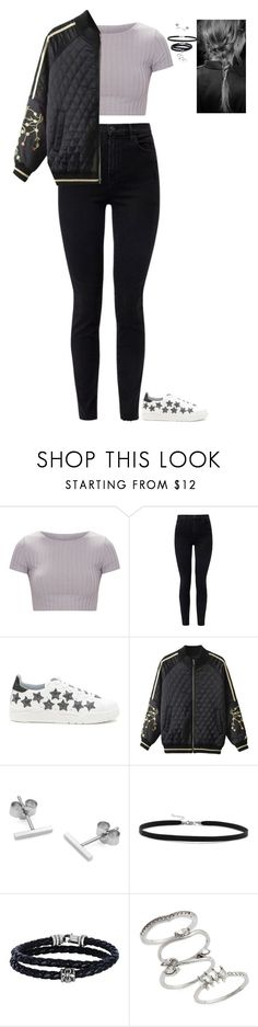 """Really Random Outfit"" by nataliaace ❤ liked on Polyvore featuring J Brand, Chiara Ferragni, Myia Bonner, BillyTheTree, Phillip Gavriel and Topshop"