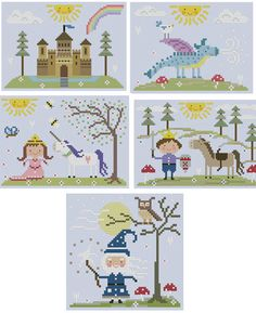Fairy Tale Cross Stitch Collection. $7.50, via Etsy.