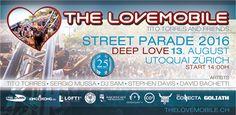 The Lovemobile by Tito Torres&Friends at Street Parade 2016 The Lovemobile and Friends geht auch in die Runde und feiert mit dir die Street. Deep Love, Partner, Motto, Dj, Street, Friends, Music, Circuit, Amigos