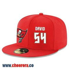 Tampa Bay Buccaneers #54 Lavonte David Snapback Cap NFL Player Red with White Number Hat
