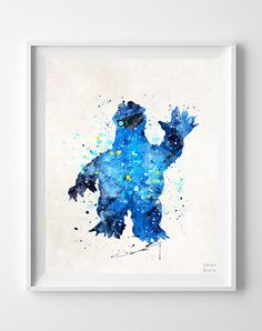 Cookie Monster Print Sesame Street Poster by InkistPrints on Etsy