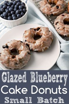 Homemade deep fried bakery style Glazed Blueberry Cake Donuts are delicious, eas. Homemade deep fried bakery style Glazed Blueberry Cake Donuts are delicious, easy, and fun to make at home. Breakfast And Brunch, Breakfast Ideas, Breakfast Cake, Health Breakfast, Breakfast Casserole, Bon Dessert, Dessert For Two, Delicious Donuts, Yummy Food