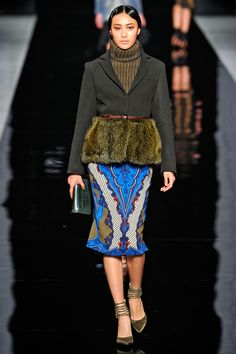 Etro Vibrant Blue with Olive