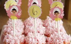 Adornos spa para los cupcakes / Spa cupcake toppers