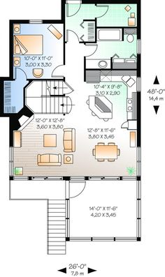 Floor Plans On Pinterest Square Feet House Plans And