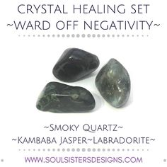 Enhance Intuition Healing Set with Smoky Quartz Kambaba Types Of Crystals, Types Of Gemstones, Crystals And Gemstones, Stones And Crystals, Gemstones Meanings, Gem Stones, Healing Crystal Jewelry, Healing Crystals, Gemstone Properties