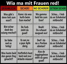 Bayerische Sätze Lustig