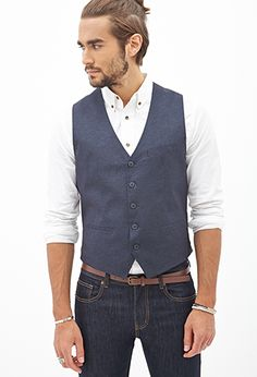 Classic Chambray Vest | 21 MEN - 2000099099