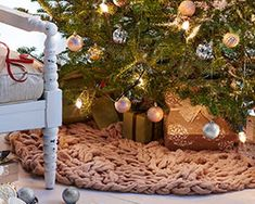 Jo-Ann Fabric and Craft Stores | arm knit tree skirt | ❤