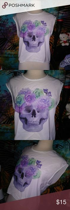 Skull purple aesthetic  blouse Divided brand h and m  us size 4 Divided Tops Blouses